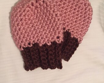 Handmade crocheted baby mittens