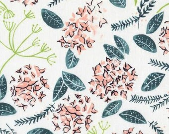 Crib Sheet or Changing Pad Cover | Girl Baby Bedding | | Peach Crib Sheet | Teal Pink Floral Nursery | Blush | Standard or Mini Crib