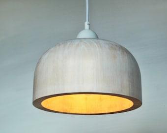 WOOD PENDANT LAMP  Mid-century lamp