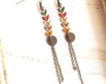 Ayanna - multicolour of autumn earrings