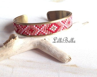 Cleo bracelet - Red and pink