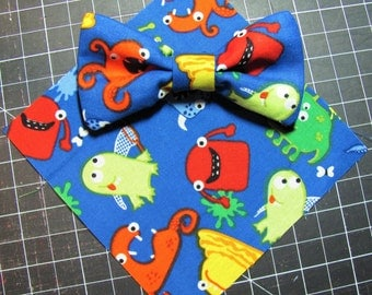 Everyday Pet Bow Tie, Cat Bow Tie, Dog Bow Tie, Monster Bow Tie -- [monsters] -- BT3003