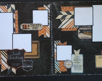 Scrapbook Page Kit titled Trick or Treating This Way