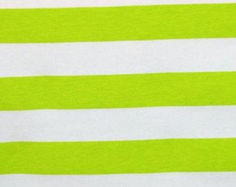 Knit Key Lime 1 inch Stripes Fabric 1 yard