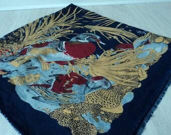REDUCED - Floral decorative  scarf /shawl /wrap (01435)
