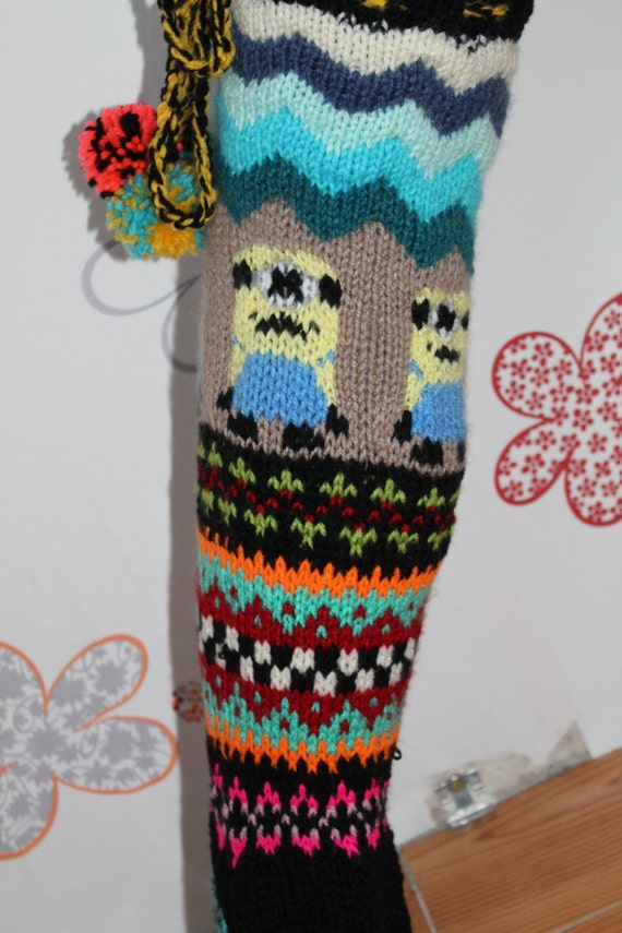 Knitting Pattern For Over The Knee Socks : Minion PATTERN Knit socks, pattern knit socks ...