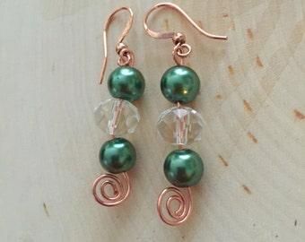 Handmade Earrings, Swirl Earrings