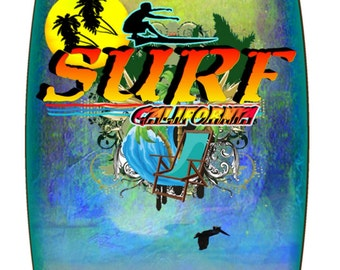Live To Surf metal surfboard