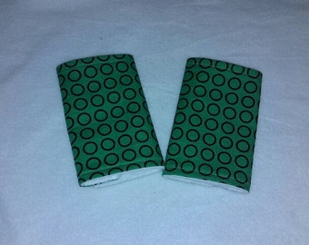 Teething Pads/Dribble/Drool Chew Pad For Baby Carriers/Ergo/Green/Circles