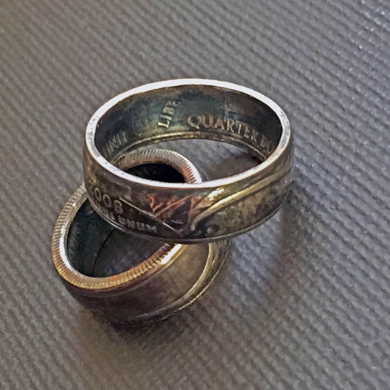 coin ring hawaiian jewelry hawaiian ring quarter ring