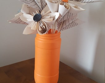 paper flowers with vase