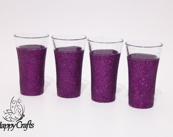 Glitter Shot Glasses Set of 4 Cadbury Purple