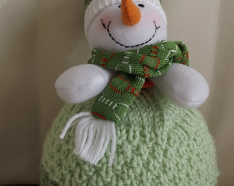 1-2 years - green tuque Apple with snowman
