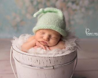 Newborn Hat, Photo Prop, Funny Hat, Newborn Photo Prop, Baby Boy Hat, Elf Hat, Newborn Sleepy Hat