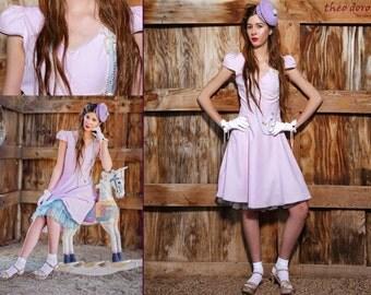 SALE! Light Pink  Dress, Summer Dress, Cotton Knee Lenght Dress, Pastel Pink Dress with Sleeves
