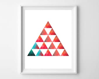 Triangle Pattern Digital Download Poster