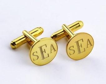 Custom Wedding Cufflinks,Personalized Monogrammed Cufflinks,Engraved Groom Cufflinks,3 Initials Cufflinks,Men Gift