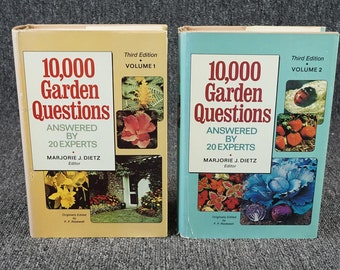 10,000 Garden Questions Answered By 20 Experts 2 Volume Set C. 1974