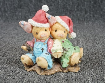 """Enesco This Little Piggy 167703 """"We Squish You A Merry Christmas"""" Figurine 1995"""
