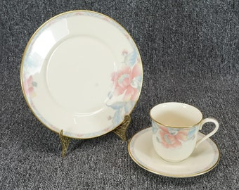 Vintage Lenox Westwood Salad Plate Tea Cup And Saucer 3 Piece Set