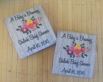 40 Personalized Tea Packets, baby shower tea favors, baby shower tea party favors, floral shower favors, baby girl favors, tea party favors