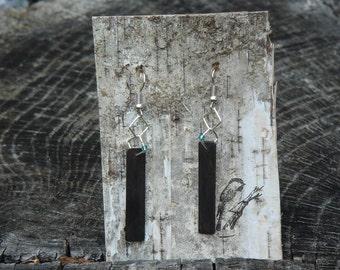 Ebony Earrings by Chickadeen.