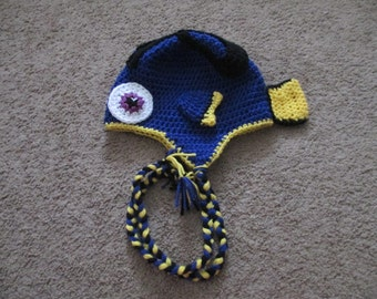 Crocheted Inspired DORY Hat inspired by Finding Nemo-Costume-Dress up-Photo Prop-ALL SIZES