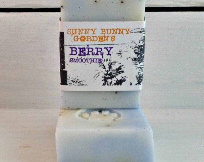 Berrie Smoothie Exfoliating Soap, Blueberry Soap, Vegan Soap, Summer Season Soap Scents, Homemade Organic Vegan Soap, Soap for Vegans