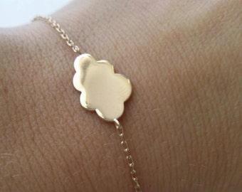 Bracelet gold plated cloud 18 karats, little cloud - gold-plated 750/0OO adjustable size - little cloud bracelet gold plated 750 bracelet