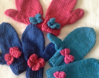 Little Girl's Mittens with Free Shipping