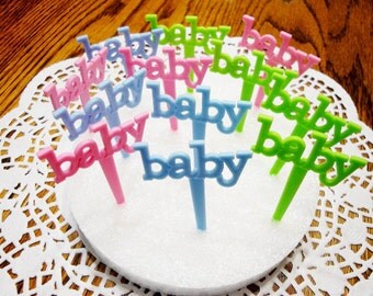 BABY Cupcake Topper (12 Count)