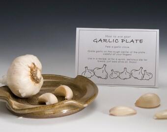 Large Garlic Grater- Oil Dipping Dish