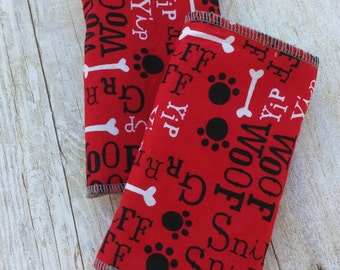 Dog Bone Drool Pads for baby carrier such as Ergo, Tula and Lillebaby