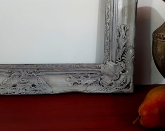 """Picture Frame - Ornate - Baroque - Cottage - 16"""" x 20"""" Baroque Frame - Wood - Shabby - Vintage - Shabby - Distressed AWESOME Finished FRAME"""