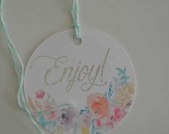 Enjoy Gift Tags - Everyday Tags - The Floral Collection Gift Tags