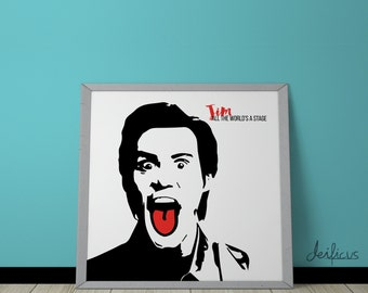 Jim Carrey Digital Art Print - Inspirational Wall Art, Printable Art, Funny Poster Art, Canvas Art, Instant Digital Download