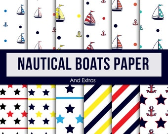 Nautical Boats Paper
