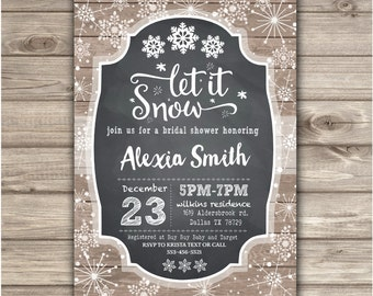 Winter Bridal Shower Invitations Rustic Simple Wedding Couples Open House Church
