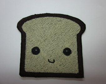 kawaii Toast Smiling Iron or Sew on patch