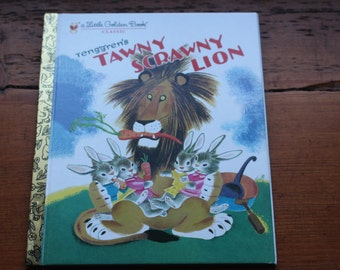Little Golden Book Classic Tawny Scrawny Lion Vintage Children's Story by Kathryn Jackson - 1980 Edition