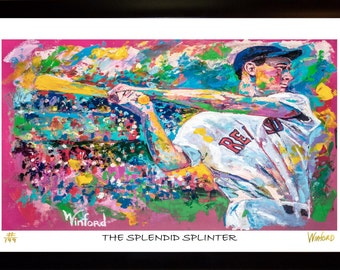 70% SALE- Ted Williams Fine-Art LIMITED Edition Paper Print From an Original Hand-Painted (Not DIGITAL/Computer) Artwork By Winford
