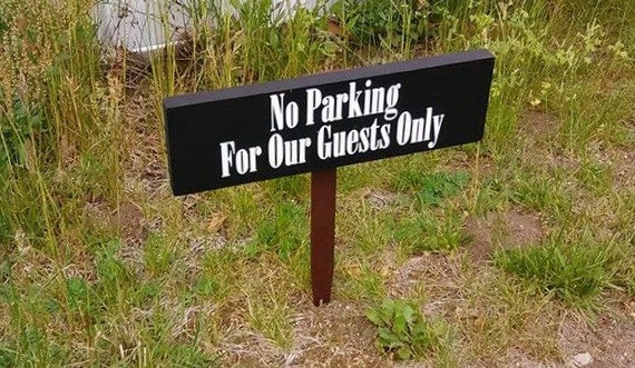 No parking sign outdoor yard sign house number sign custom - House number signs for yard ...