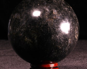 Black Tourmaline 70mm Sphere Ball 1.37lb