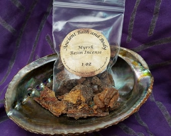 Myrrh Resin Incense 1oz, Spiritual Incense, Ritual Incense