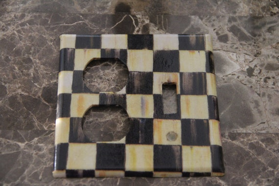 Double Outlet Single Toggle Switch Plate Outlet Cover Made