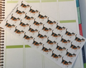 Calico Cat Stickers! Cat Stickers! Perfect for your Erin Condren Life Planner, calendar, Paper Plum, Filofax!