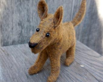 Stuffed dog, felt puppy, felt dog, soft toy, stuffed felt animal