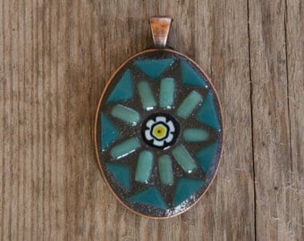 Mosaic Pendant- Wearable Art