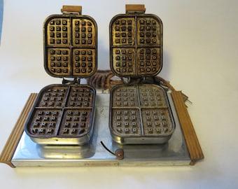 Brunchmaster vintage double waffle maker
