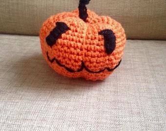 Halloween Crochet Pumpkin Ornament